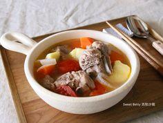 補氣排骨蔬菜湯食譜、作法   Sweet Betty西點沙龍的多多開伙食譜分享