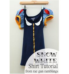 Tutorial: Snow White t-shirt for a grown-up princess