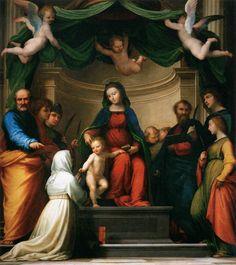 Fra Bartolomeo, The Marriage of St Catherine of Siena, 1511 Wood panel, 257 x 228 cm Musée du Louvre, Paris
