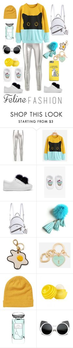 """""""playful cat"""" by olga-ti ❤ liked on Polyvore featuring SPRWMN, Sam Edelman, Monki, GUESS, Anya Hindmarch, CHARLES & KEITH, Billabong, Eos and By Terry"""