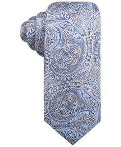 Countess Mara Men's Woodcrest Paisley Tie  - Blue