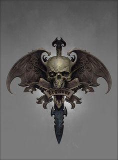 ArtStation - Vampire Counts Symbol, Ted Beargeon
