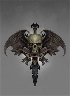 ArtStation - Vampire Counts Symbol, Ted Beargeon