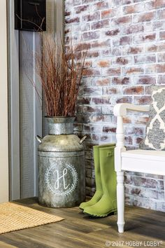 Create a floral focal piece fit for any space with a vintage-inspired milk can!