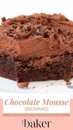 Homemade Cake Recipes, Brownie Recipes, Baking Recipes, Cookie Recipes, Brownie Ideas, Dessert Recipes, Bar Recipes, Easy Desserts, Pastries