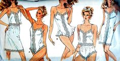 1980s Lingerie Pattern Vogue 2146 Lace Nightgown by paneenjerez, $12.00