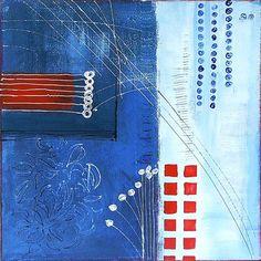 Acrylbild 'Blau & rot' - Angelika Rump