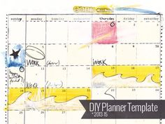 downloadable planner templates in a very arty and laid back style; also very minimalist and lovely....sort of draw you in and make you want to create.....