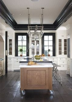 Planning our DIY old-house kitchen remodel… a collection of kitchen inspiration and design details. Planning our DIY old-house kitchen remodel… a collection of kitchen inspiration and design details. Kitchen And Bath, New Kitchen, Kitchen Dining, Kitchen Decor, Kitchen Cabinets, Kitchen Black, White Cabinets, Ivory Kitchen, Tall Cabinets