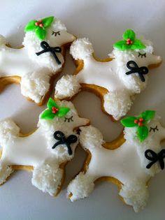 Christmas Poodle Cookies