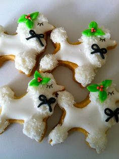 Christmas Poodle Cookies
