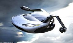Terrafugia, based in Woburn, Massachusetts, is working on a 'flying car' called the TF-X ¿ a car with folding arms and rotors for vertical takeoff and landing. The vehicle will have a cruising speed of 200 mph (322 km/h), along with a 500-mile (805 km) flight range. TF-X will have fold-out wings with twin electric motors attached to each end