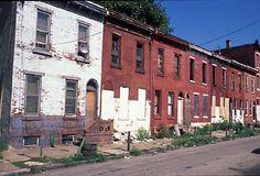 Abandoned row houses