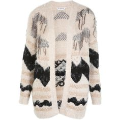 Miss Selfridge Fluffy Fringe Cardi ($44) ❤ liked on Polyvore featuring tops, cardigans, sweaters, outerwear, jackets, assorted, miss selfridge, pattern tops, metallic cardigan i fringe cardigan