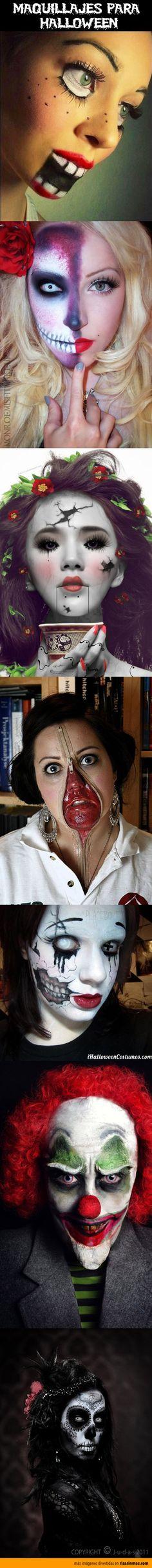 Recopilación de los mejores maquillajes para Halloween.