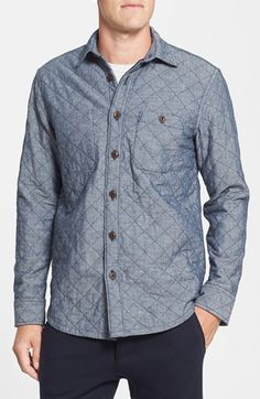Wallin & Bros. Regular Fit Quilted Shirt Jacket available at #Nordstrom