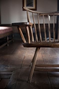 FARMHOUSE – INTERIOR – an antique desk chair found by Burlap and Hay.