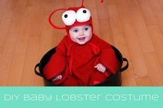 The Happy Plum: DIY Baby Lobster Costume                                                                                                                                                     More