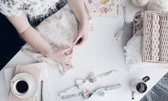 Rosery Apparel workspace handmade in Australia - making a pledge to sustainable fashion - Australian designer Janelle Duff speaks about op-shops, sewing her clothes and her ethical fashion brand Rosery Apparel