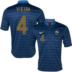 France #4 Patrick Vieira Blue Home Soccer Country Jersey! Only $21.50USD