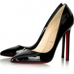 208c35ac3d Black Thin Heel Pointed Women's Pumps High Heels Red Bottom Vintage Sexy  Shoes for Women