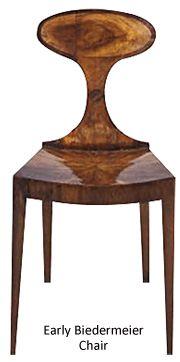 early Biedermeier chair (interesting design)  www.artnewsnviews.com