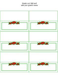 Free Printable Christmas Place Cards   Printables   Pinterest ...