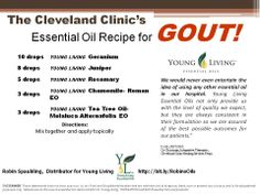 Gout anyone?  The Cleveland Clinic is even onboard with Young Living oils!