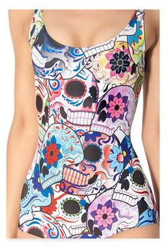 77dfc1dd189df Find More One Pieces Information about High Quality Women Sexy One Piece  Printed Skull Flowers Teeth