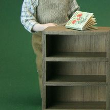 How to make simple but sturdy bookcases or shop display storage in dollhouse scale, using hand tools.