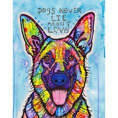 Dogs Never Lie German Shepherd Wall Sticker Decal - Animal Pop Art by