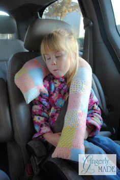 Fiber Cotton Soft Neck Pillow Computer Chair Pillow Car Travel Pillow 1 Pcs Brown /& Beige Ocus Cute Bear Car Pillow Seat Head Seat Neck Rest Cushion with Headrest Strap