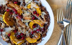 Toasted Quinoa Delicata Squash Bowls With Pickled Apples and Almond Butter Sauce [Vegan]   One Green Planet
