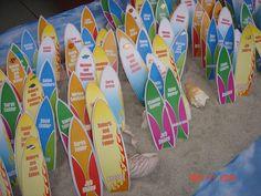 beach themed place cards