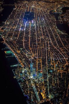 New York at night from above #nyc