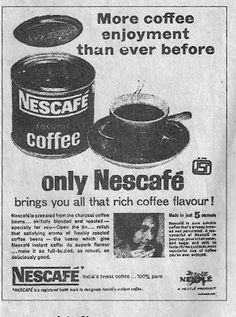 Nescafe Coffee ad from 1965. Join us at http://www.turtok.com/