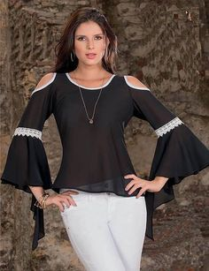 Swans Style is the top online fashion store for women. Cute Fashion, Look Fashion, Womens Fashion, Fashion Tips, Fashion Design, Modelos Plus Size, Weekend Wear, Classy Outfits, Blouse Designs
