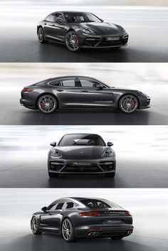 The new #Panamera Turbo: The twin tailpipes are specific to the Turbo, the brake…