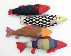 peces cojines, reciclando viejos jerseys