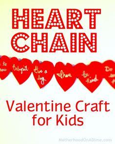 Heart Chain Valentine Craft for kids