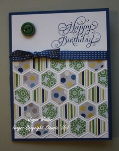 Stampin' Up -- Honeycomb Folder--Print Poetry DSP