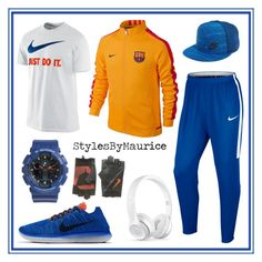"""""""Men's Athletic Apparel"""" by mauricee-brewer on Polyvore featuring NIKE, Beats by Dr. Dre, Baby-G, men's fashion and menswear"""
