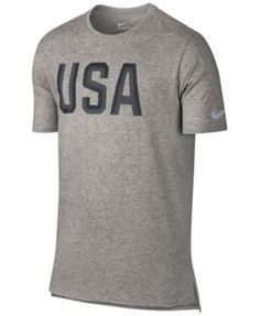 Nike Men'S Usa Graphic T-Shirt, Dark Grey