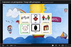 """""""Mi familia"""", canción infantil de CántameUnCuento, adaptada con pictogramas de ARASAAC."""