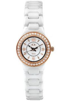$655.80 - Ceramic Couture Rose Gold Immersion Plated Watch with CZ's   http://www.thesgdex.com