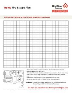 FREE PRINTABLE: How to make a home fire escape plan