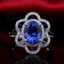 New Natural Tanzanite Ring,Diamond Engagement Ring Jewelry In 18kt White Gold For Sale WU233,   Engagement Rings,  US $1189.00,  #Engagementring  #weddingband #weddingjewelry #weddingring #diamondengagementring #925SterlingSilver #WhiteGold