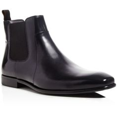 Boss Hugo Boss Hubot Leather Chelsea Boots (€265) ❤ liked on Polyvore featuring men's fashion, men's shoes, men's boots, black, mens leather boots, mens black chelsea boots, mens black leather shoes, mens black boots and mens leather shoes