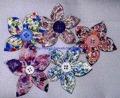 Cara Membuat bros bunga lancip dari kain perca