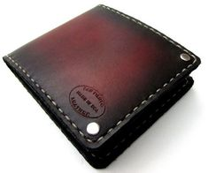 Mens Wallet Classic Sunburst Leather Bifold by SanFilippoLeather, $100.00 men's fall fashion If you love fashion check us out. We're always adding new products for your closet!